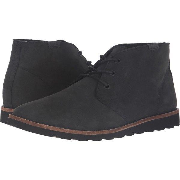 8752709fff0 Vans Desert Chukka (Black Nubuck) Men's Shoes ($80) ❤ liked on ...