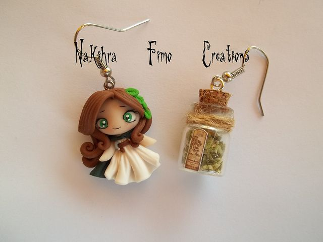 Druid + Bottled Roots Polimer Clay Earrings | Flickr - Photo Sharing!