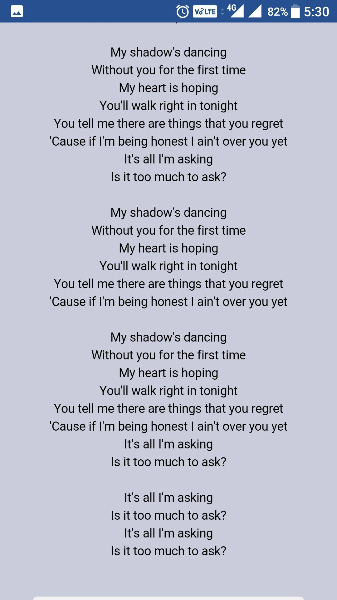 Too Much To Ask // Niall Horan One direction lyrics