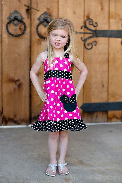 bf9613457998 Girls Minnie Mouse/ Disney Halter fuchsia Dress by FunUpTownGirls, $29.00