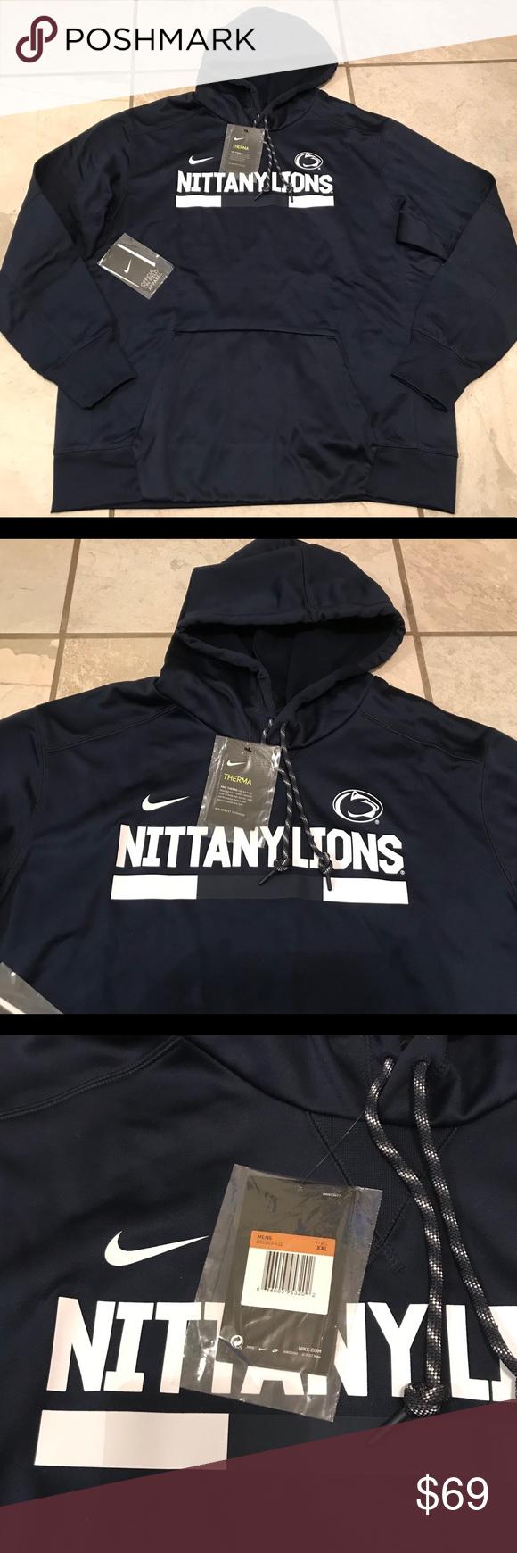 Nike On Field Penn State Nittany Lions Hoodie Penn State Nittany Lions Hoodie Brands Blue Nike [ 1740 x 580 Pixel ]