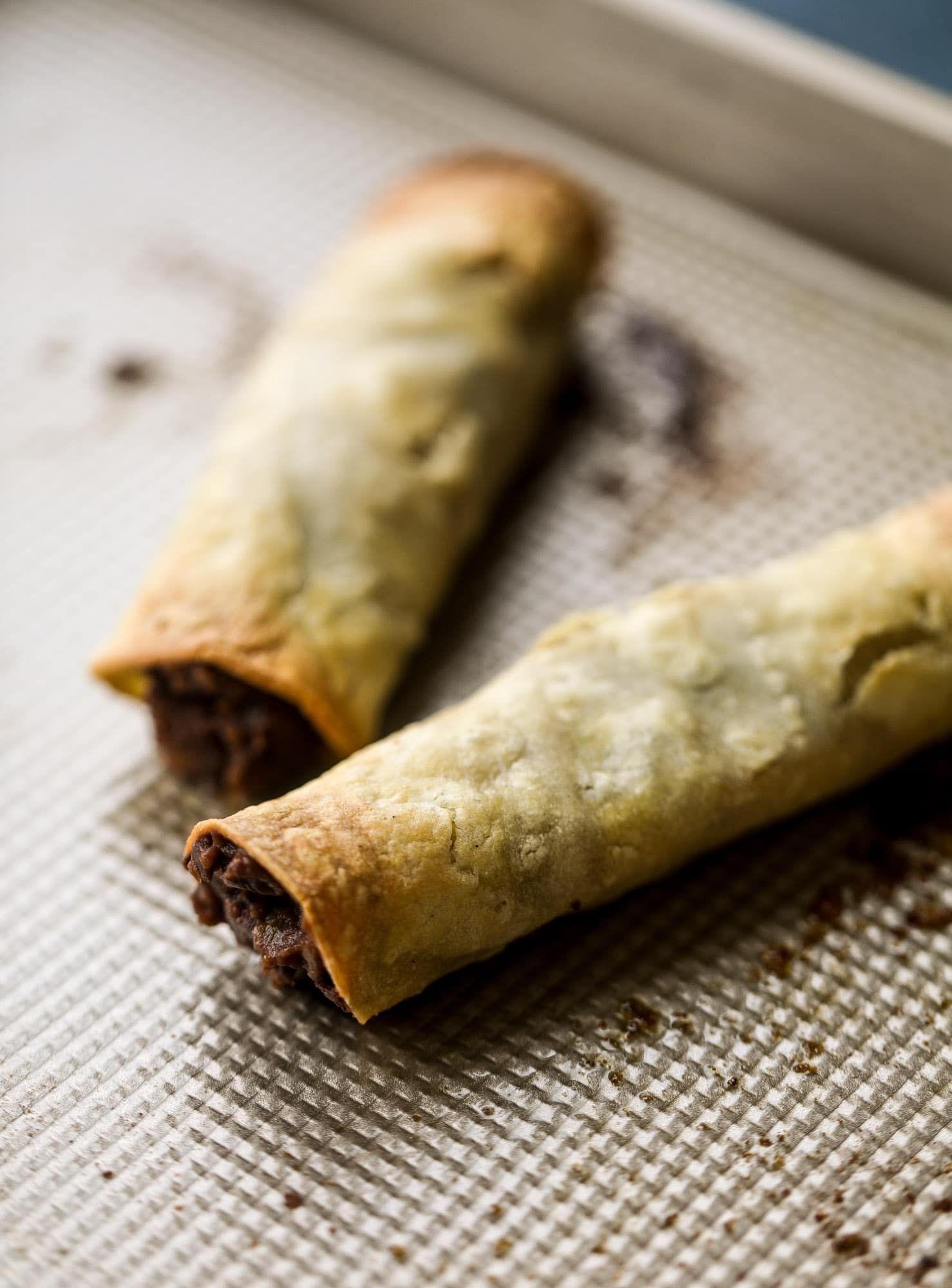 Taquitos Recipe – Baked Black Bean Taquitos with Avocado Pico