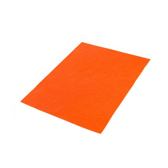 Acrylic Felt Sheets Orange 9 X 12 X 3 64 Thick Multiple Pack Sizes Available Felt Sheets Felt Crafts To Make