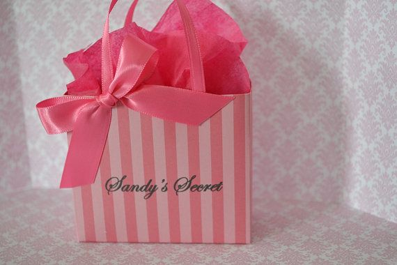 Victoria S Secret Inspired Party Favor Bags In Pink By