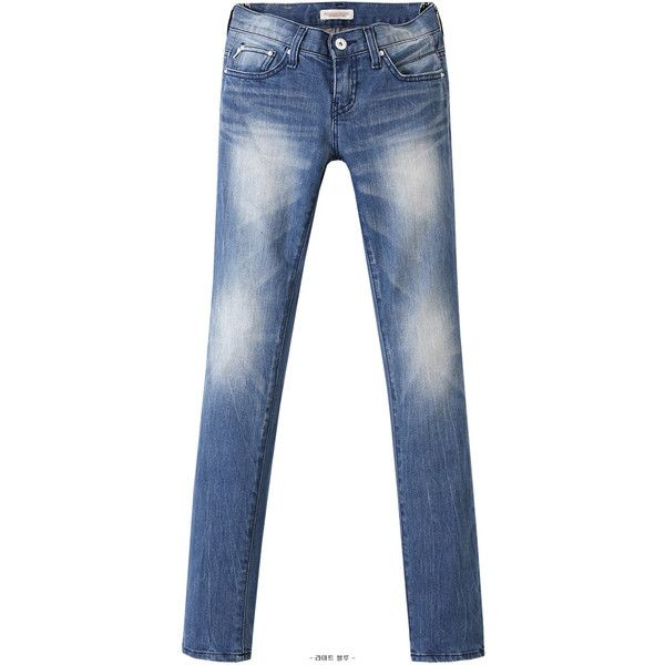Washed Jeans (1.075 ARS) ❤ liked on Polyvore featuring jeans, pants, bottoms, styleberry and blue jeans