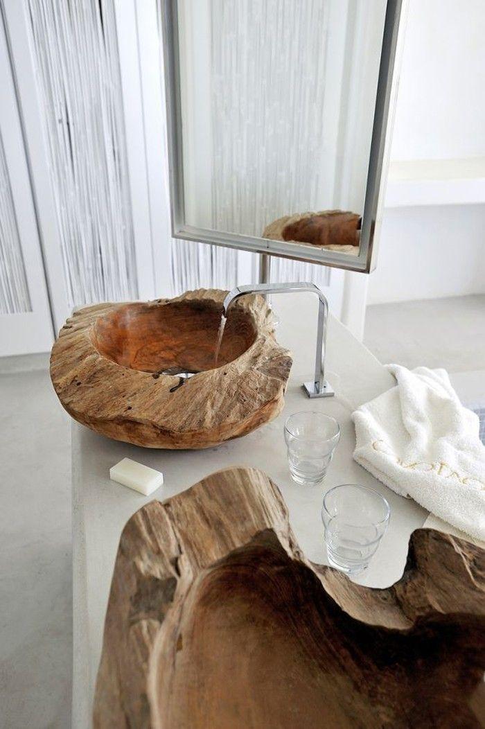 Photo of Anders denken- 29 Badezimmer Ideen mit Holzwaschbecken