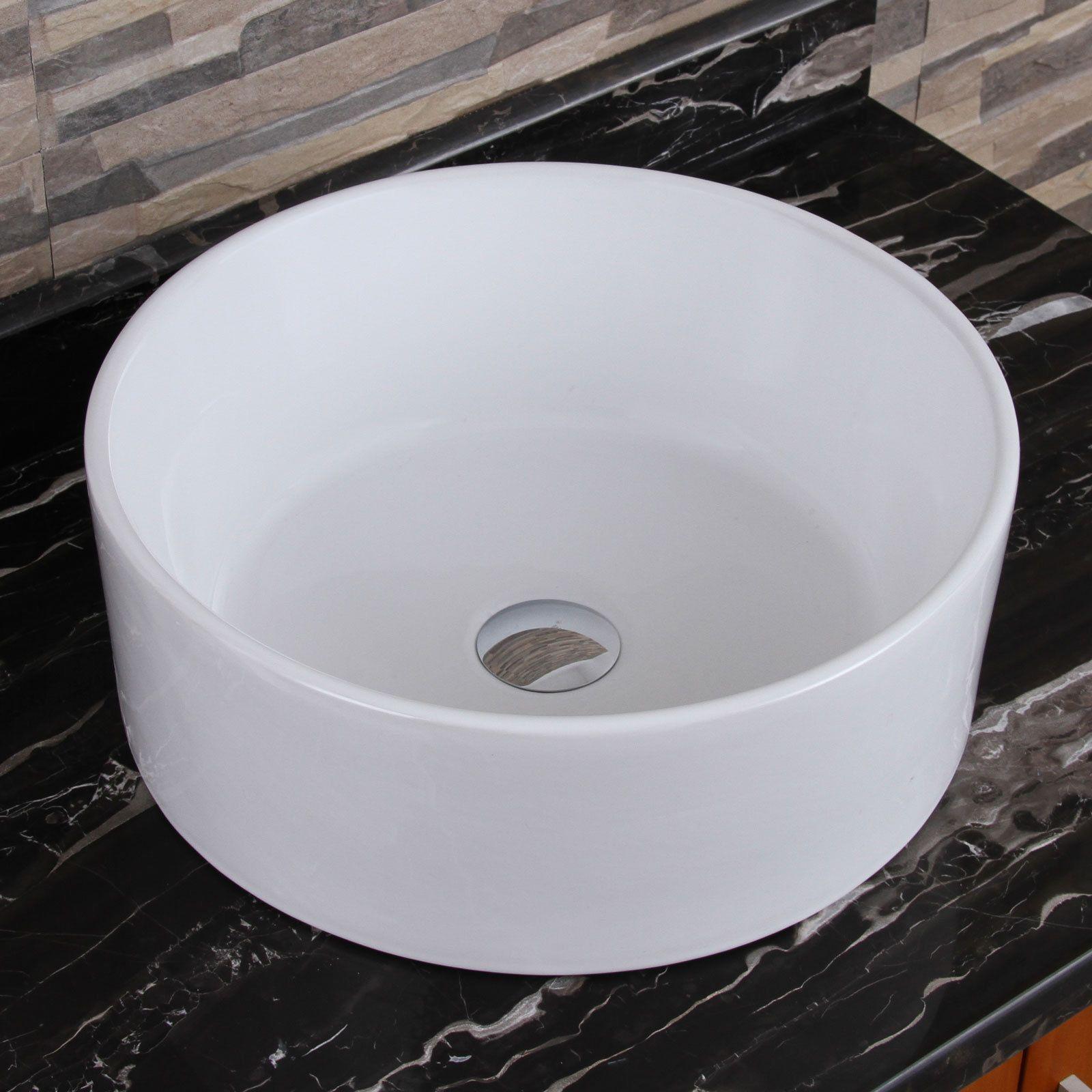 Elite Elimax 04 Round Shape White Porcelain Ceramic Bathroom