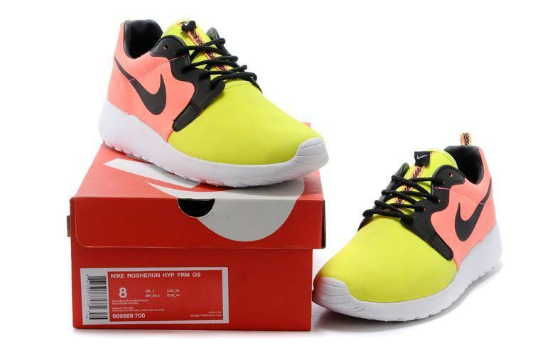 6a81100c637 Latest and Newest Mens Nike Roshe Run Hyperfuse 3M 669689 700 Volt Hyper Punch  Black