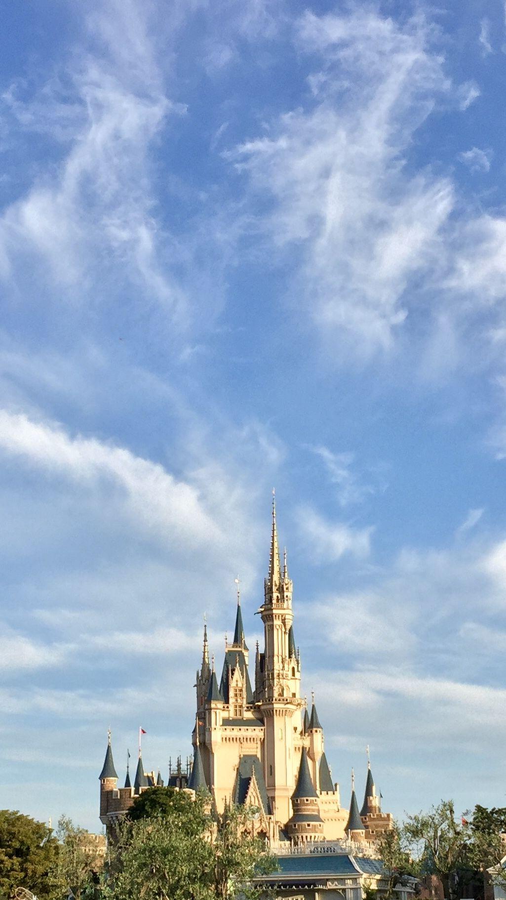 青空とシンデレラ城 高画質オリジナル パノラマ写真 シンデレラ城 東京ディズニーリゾート