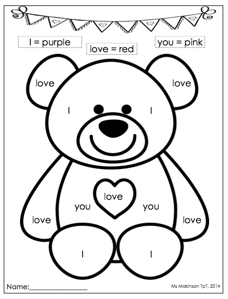February Printables - Kindergarten Literacy and Math ...