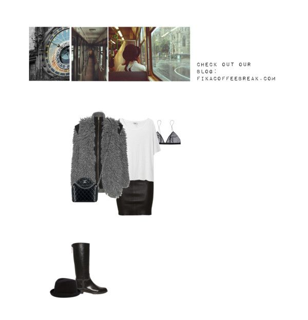 """Stella McCartney Wool Jacket & Jean Yu Triangle Bra"" by abigail-abigail ❤ liked on Polyvore"