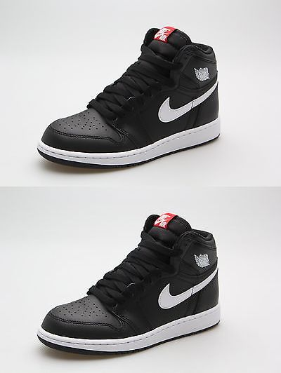 ba21336601ee Jordan Big Kids Air Jordan 1 Retro High OG (GS) (white   black white