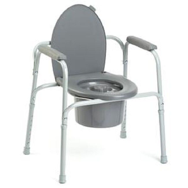 All In One Aluminum Commode Vera Bedside Commode Shower Chair