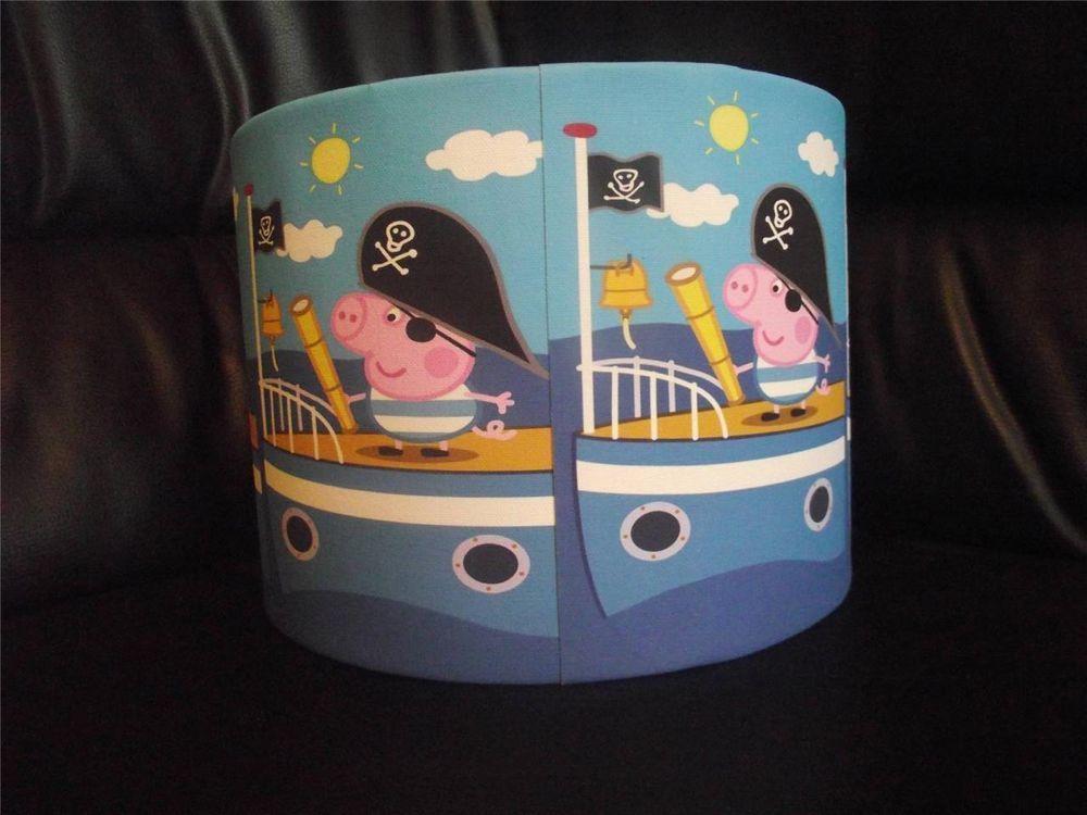 George pig pirate peppa pig 10 drum ceiling lampshade lightshade george pig pirate peppa pig 10 drum ceiling lampshade lightshade aloadofball Choice Image
