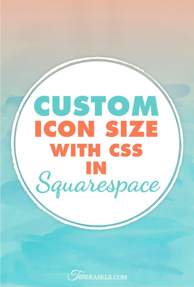 how to change squarespace icon