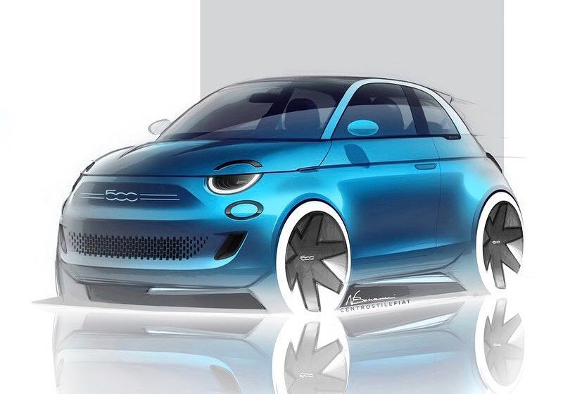 Car And Sketch On Instagram Fiat 500 La Prima
