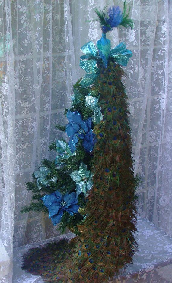 peacock tree toppers 48 peacock christmas tree topper by ivyndell on etsy - Peacock Christmas Tree Topper