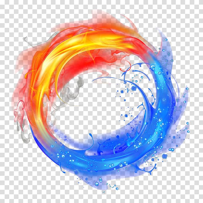 Light Flame Fire And Ice Water And Fire Transparent Background Png Clipart Bingkai Foto Seni Lingkaran