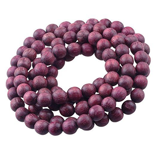 Amazon.com: CarpenterC 200pcs 8mm magnífico redondos naturales perlas sueltas palo de rosa pulido para la joyería que hace bricolaje arte hecho a mano: Arte, Artesanía y Costura