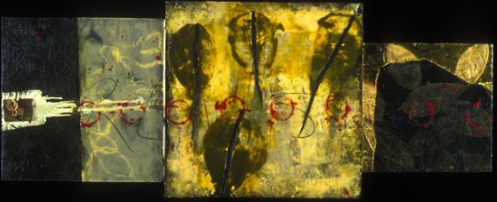 Encaustic Artist Mary Black - Encaustic Art Mixed Media on Paper - RELEASE