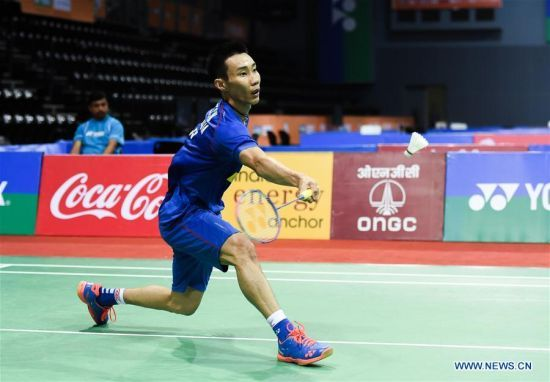 Lee Chong Wei Of Malaysia Competes During The Men S Singles First Round Match Against Kazumasa Sakai Of Japan At The 2016 Badminton Tournament Badminton Sports
