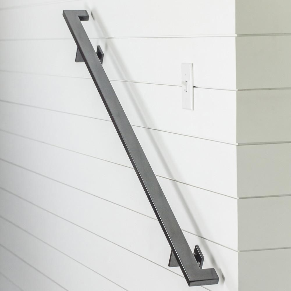 Linear Handrail Bracket in 2019 | Basement Stair Railing ...