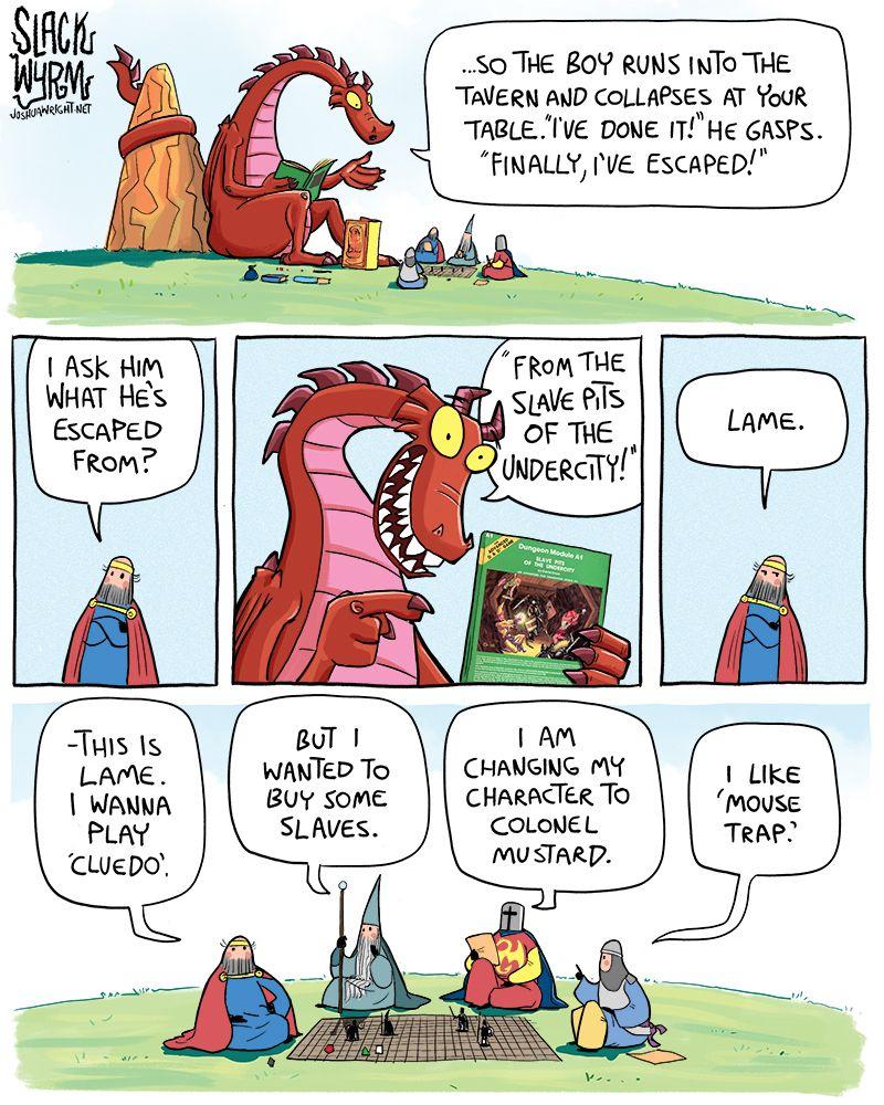 Slack Wyrm, Funny Comics, Dragon