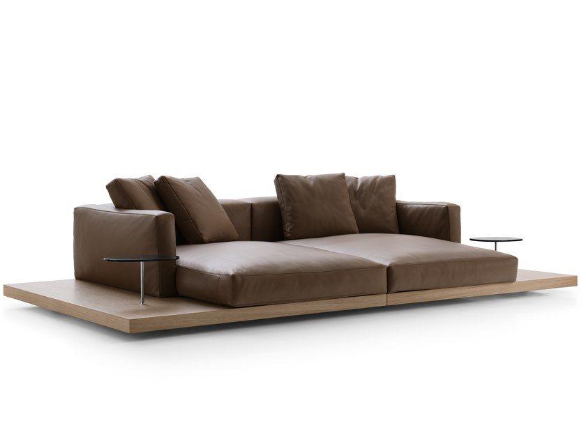 Download The Catalogue And Request Prices Of Dock Sofa By B B Italia Leather Sofa Design Piero Lissoni Dock Collection In 2020 Italia Design Sofa B B Italia
