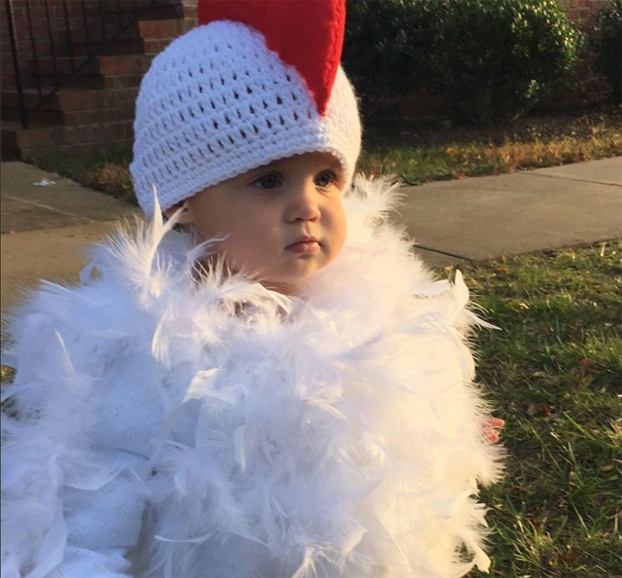d54a8e139354 Watch  little girl dressed as a chicken goes viral in cute  Chicken ...