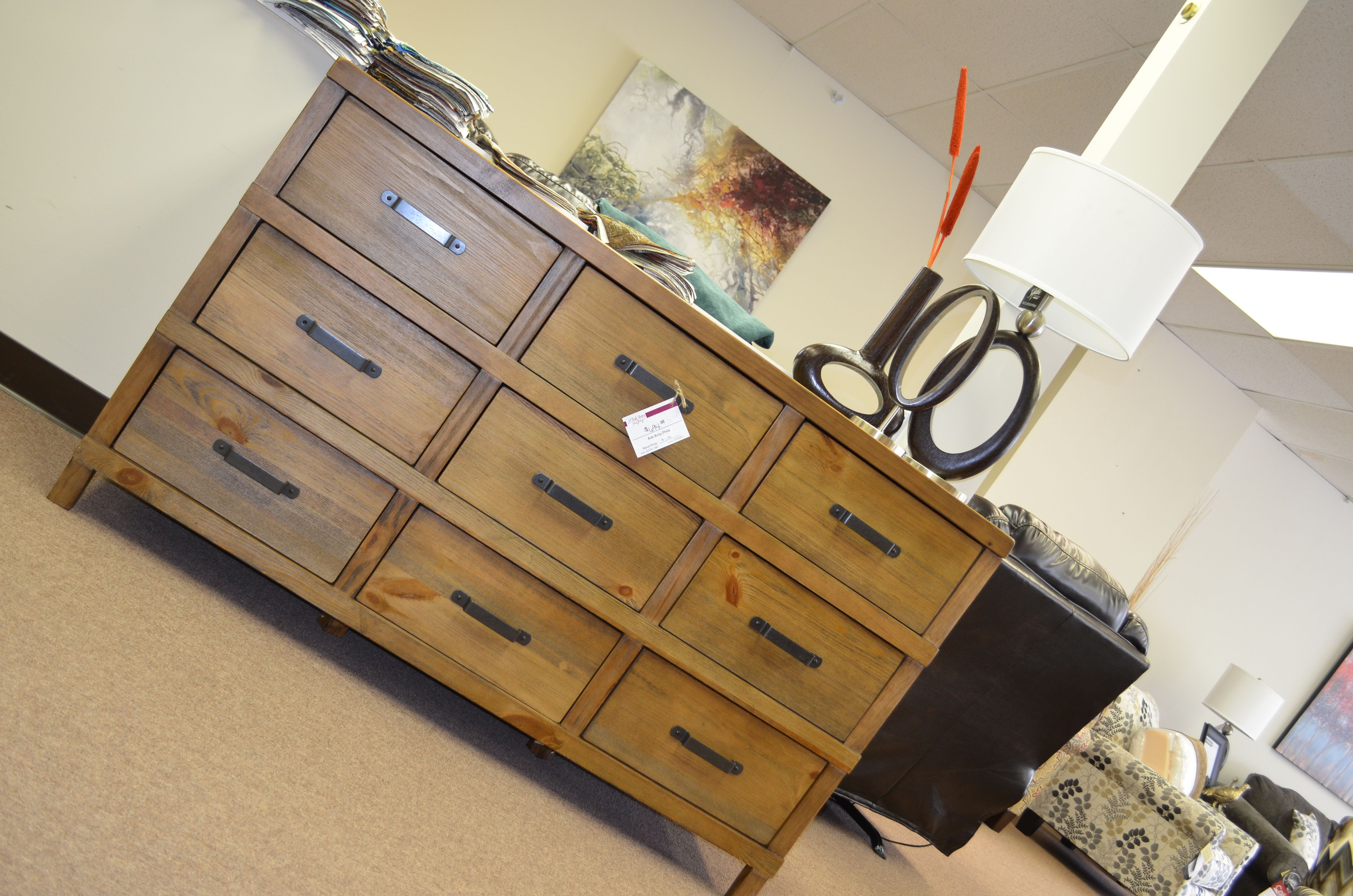 New piece on our showroom floor. Only $694.38. All drawers open for great storage. This would be a great piece in a dining room, entry way or even as an entertainment stand! www.askamystaging.com