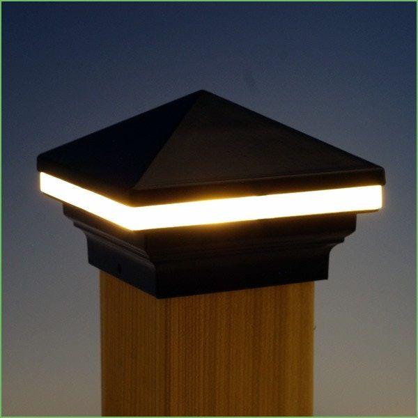 Lighting Fence Post Lights Solar Ed Iris Led Cap Light By Aurora Deck Costco 6x6
