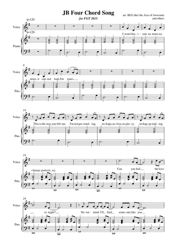 Four Chord Song Child 6 Piano Partpdf Music Ed Pinterest Songs