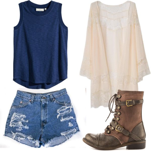 Casual outfit by juli-alvidrez on Polyvore featuring polyvore, fashion, style, H&M and ZIGIgirl