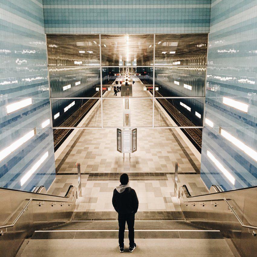 Ubahn Station Überseequartier HafenCity Hamburg