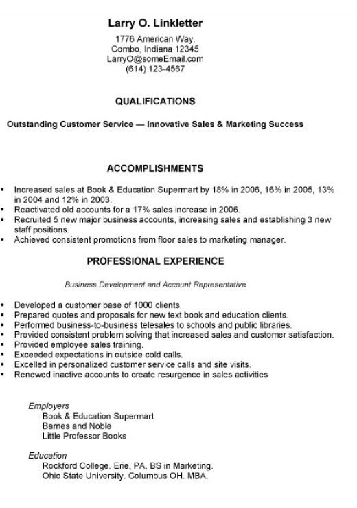 basic resumes - Google Search RESUMES Pinterest Sample resume - account representative sample resume