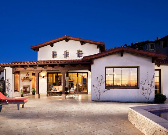 Hilltop residence in spanish ranch style home design for Spanish style ranch house plans