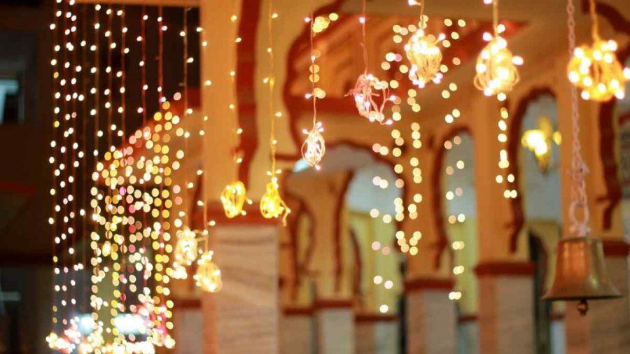 Bundle Up The Fairy Light For Unique Decor Fairy Lights Diwali Decoration Ideas For Hom Diwali Decorations At Home Diwali Decorations Diy Diwali Decorations
