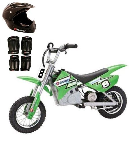 Razor MX400 24V Dirt Rocket Electric Motorcycle with Helmet, Elbow & Knee Pads