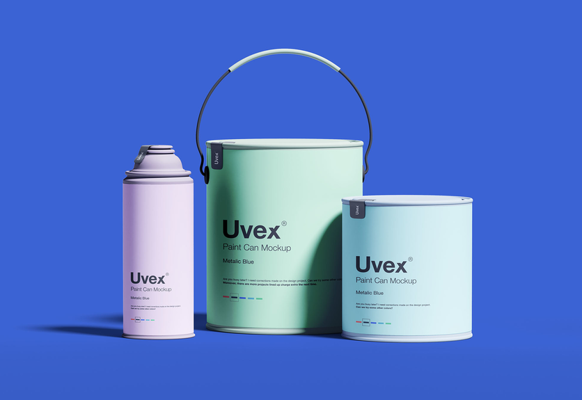 10 Paint Bucket Can Mockup Templates Packaging Mockup Paint Buckets Mockup Free Psd