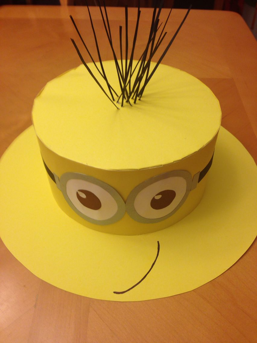 Minion for a crazy hat day Manualidades, Sombreros locos