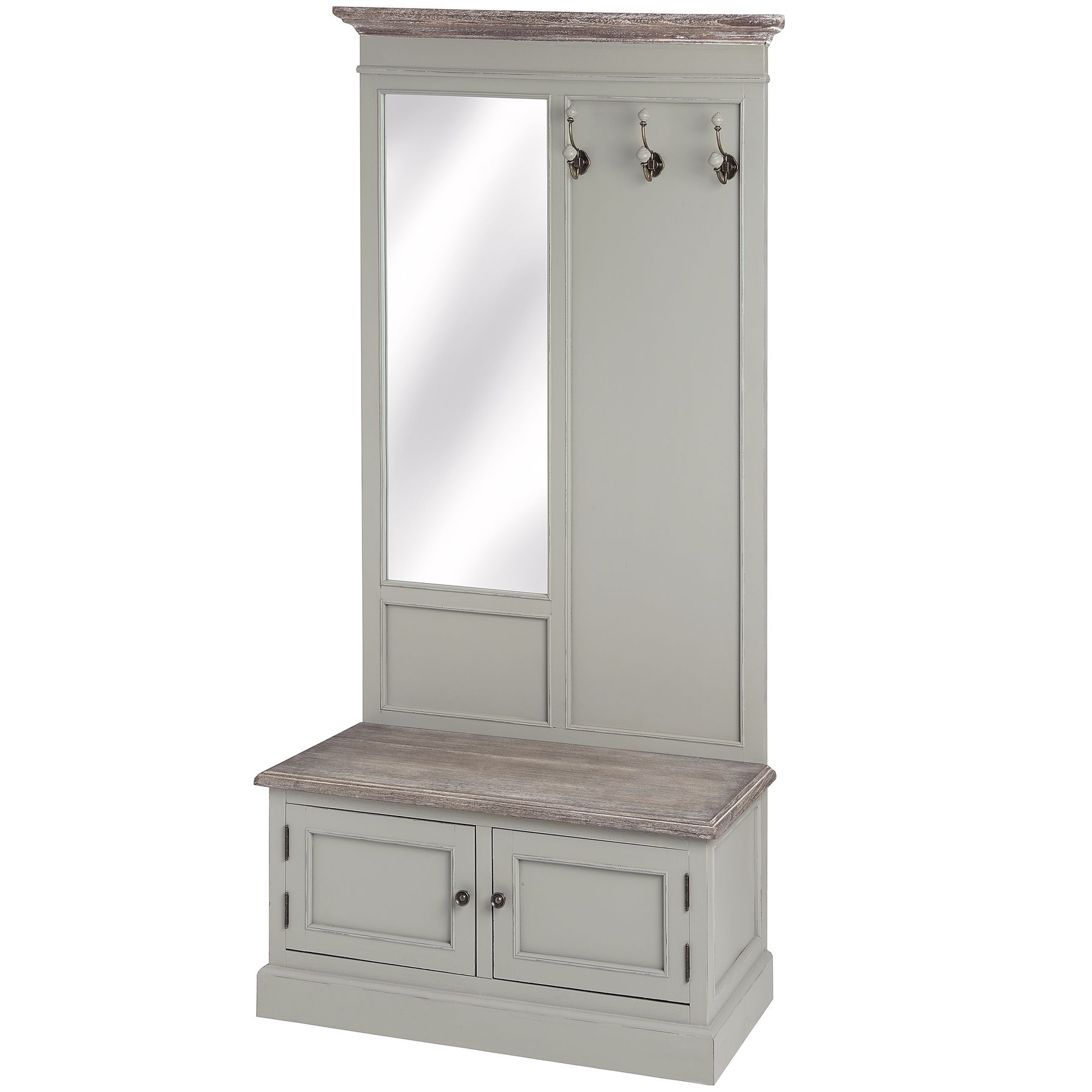 Hall Cupboards Furniture lyon grey hall cabinet with mirror & hooks from hill interiors