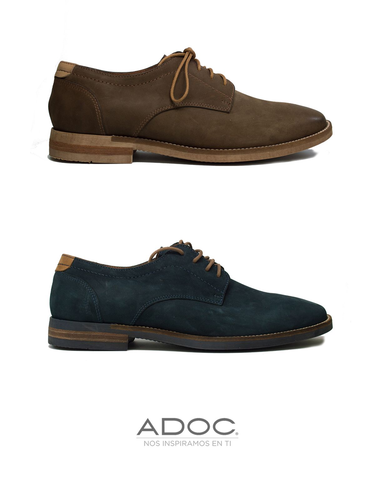 Zapatos Madisson de ADOC disponibles en navy, caramel y olivo.