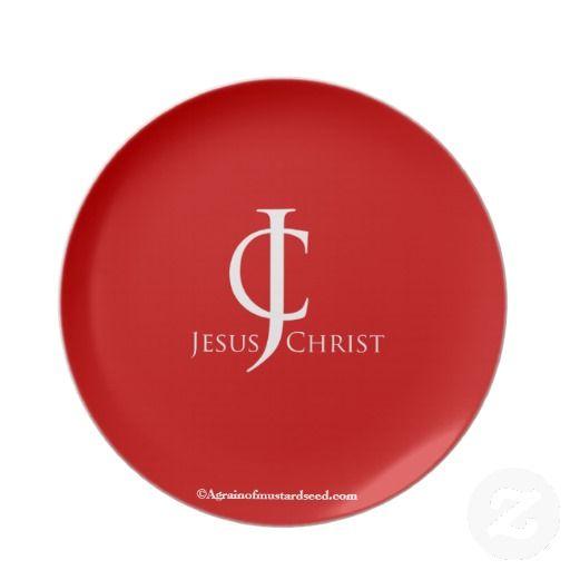 JC Logo Agrainofmustardseed.com Designer Dinner Plate  sc 1 st  Pinterest & Christian Dinner Plate   Products