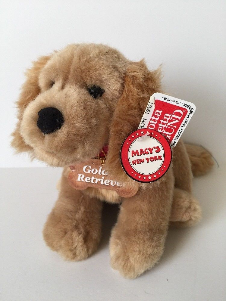 Gund Plush Golden Retriever Puppy Dog Soft 10 Stuffed Toy Macy S New York 13061 Gund Golden Retriever Puppy Dogs And Puppies Puppies