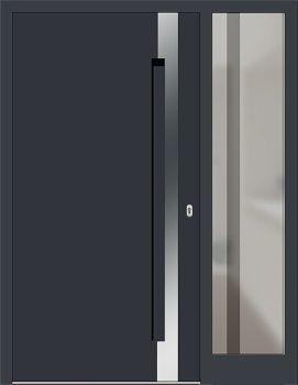 Haustüren mit breitem seitenteil  Kunststoff Haustür Modell 6974-40 anthrazitgrau mit Seitenteil ...