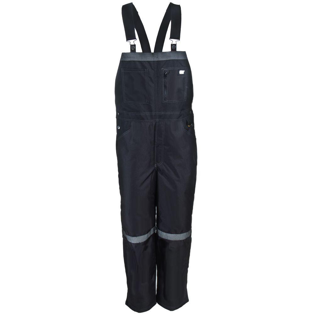 cat men s 1210002 016 black water resistant instigator on insulated work overalls id=75855