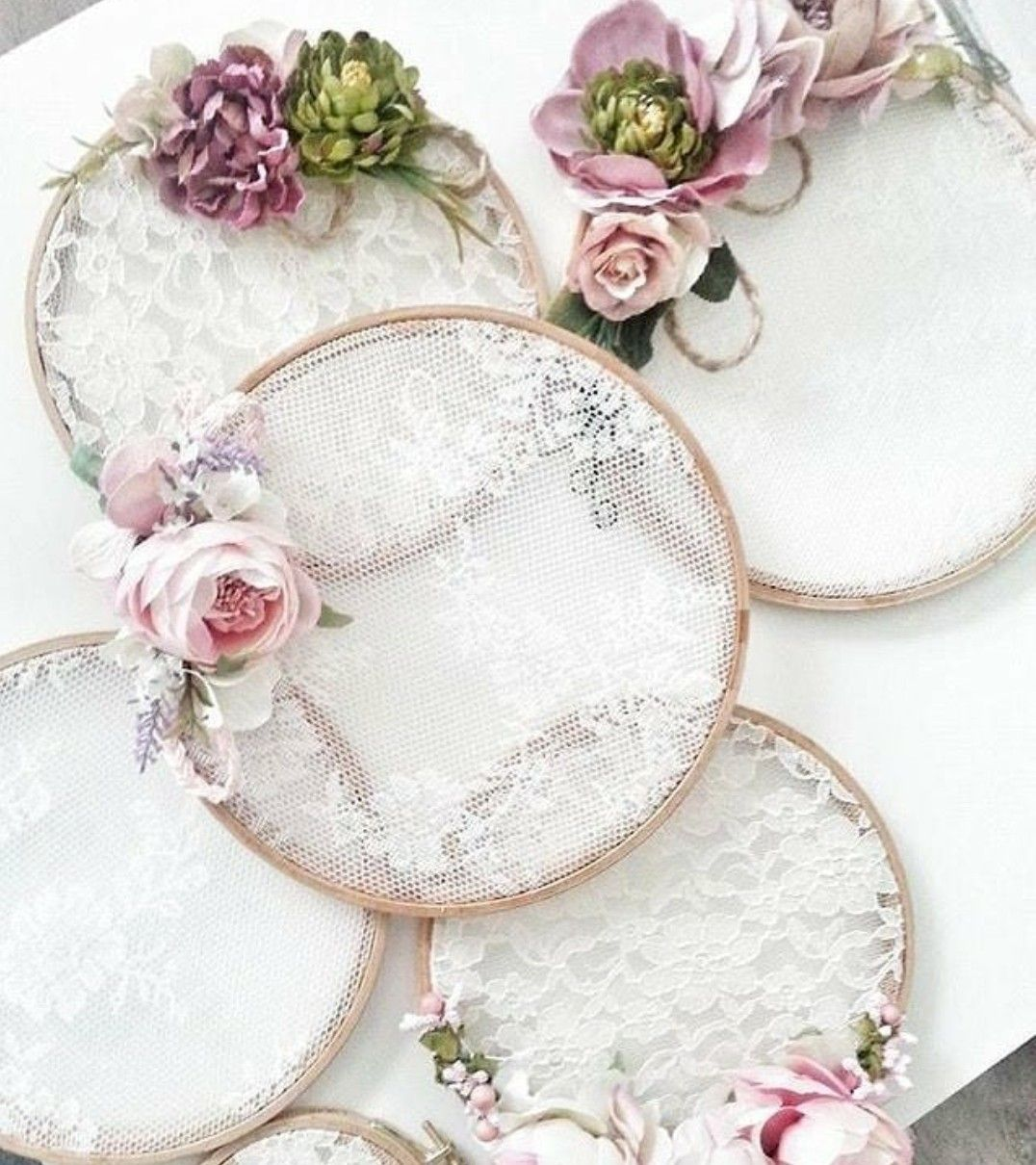Photo of Some French lace in an embroidery hoop can be the perfect base for some simple …