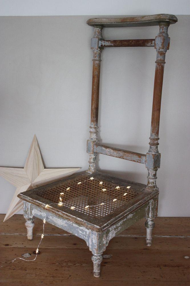 Superbe Et Tres Ancienne Chaise De Nourrice Style Louis XVI Avec Assise CanneeCe
