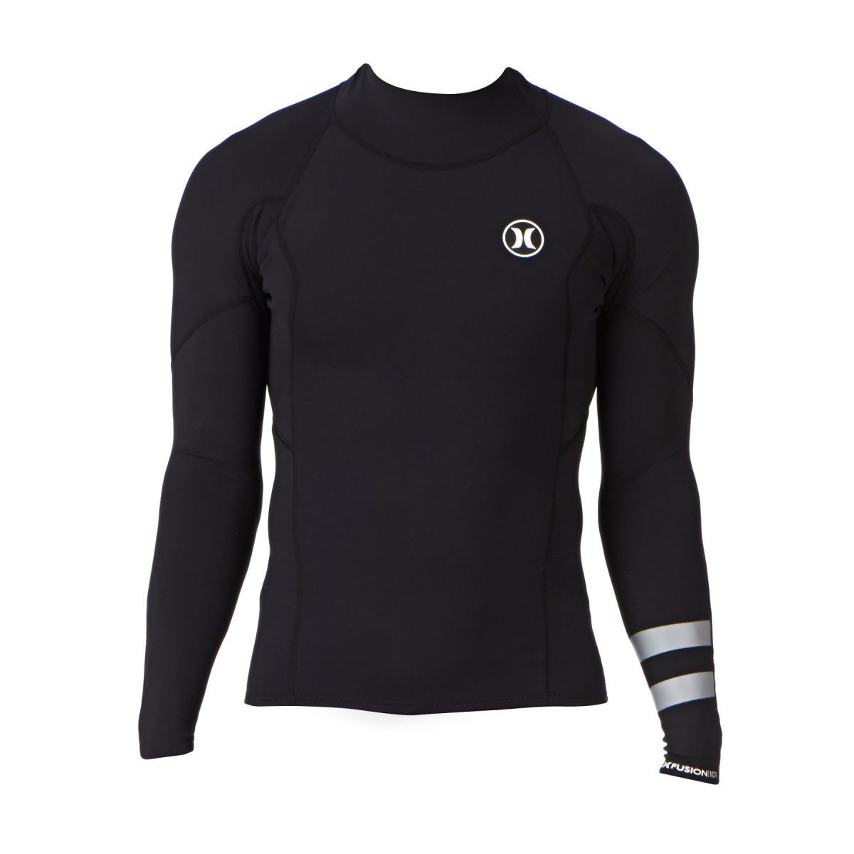 Hurley Wetsuit Jackets - Hurley Fusion 1mm Long Sleeve Wetsuit Jacket -  Black