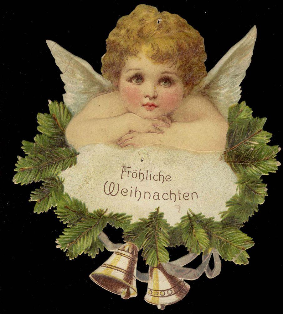 alte Oblate Glanzbilder Engel Weihnachten Stammbuchbilder Scraps